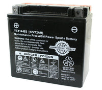 Universal Parts 12V 12AH Battery YTX14-BS