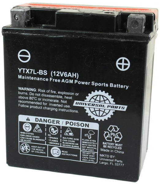 Universal Parts 12V 6AH Battery YTX7L-BS