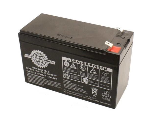 Universal Parts 12V 7.6AH Battery SLA12-7.2