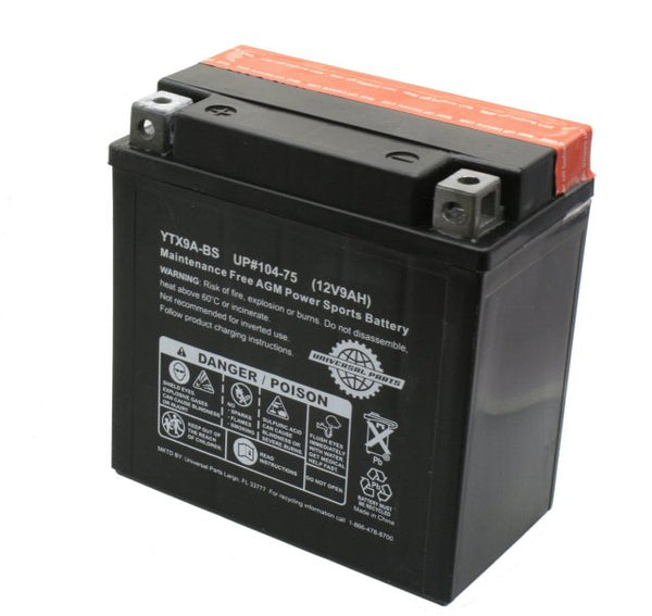 Universal Parts 12V 9AH Battery YTX9A-BS