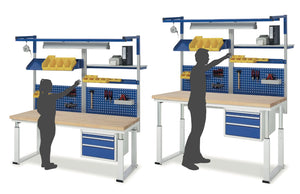 Workbenches with Electric Height Adjustment