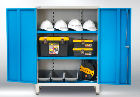 Workshop storage cupboards