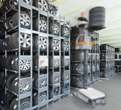 Shelving for Tyres