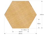 Hexagonal Worktop 40mm thick