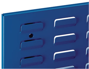 storage panel for plastic parts bins