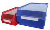 Lids for plastic parts bins