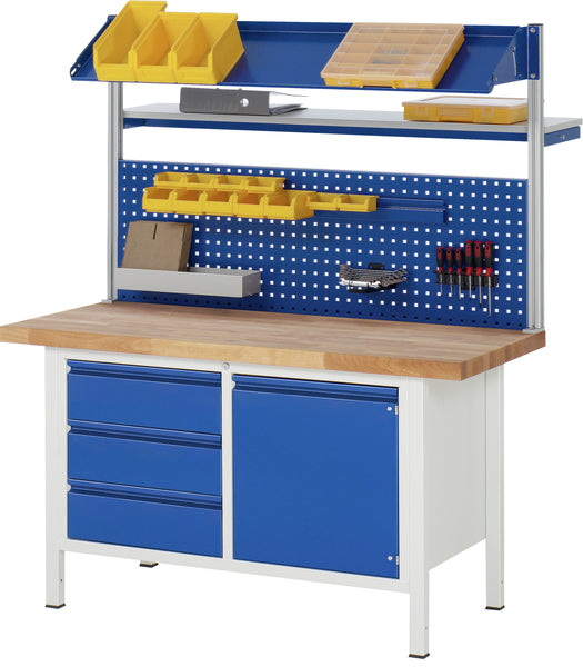 Industrial Workbench with Tool Storage