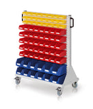 Parts bin mobile rack-trolley