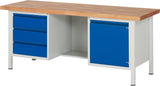 Industrial Workbenches with Drawers and Cabinets