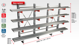 Schulte Cantilever Racking at Equiptowork