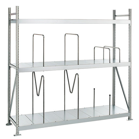 Longspan Shelving w/steel panels