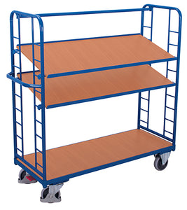 Shelf Trolleys with sloping shelves