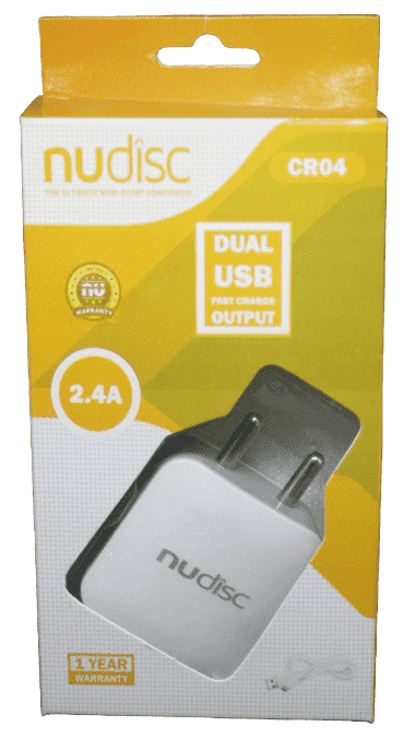Nudisc 2.4 A Dual USB High Speed Charging On Charger - Vprefer