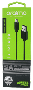 Oraimo 2A High Speed Data Transfer And Charging Data Cable type C - Vprefer