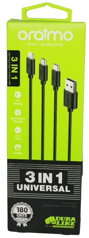 Araimo 3 In 1  High Speed Data Sync & High Speed Charging Data Cable - Vprefer