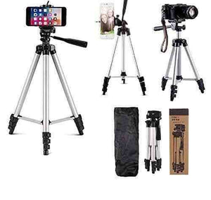 Tripod Portable Camera Stand With Mobile Clip Holder Bracket - Vprefer