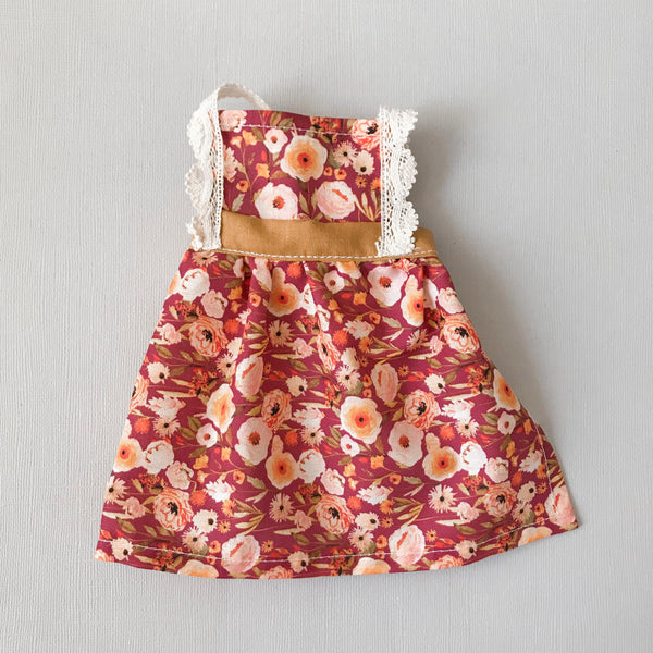 Harvest floral pinafore