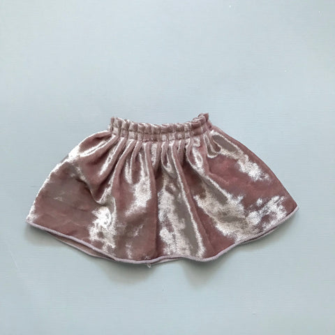 Blush velvet party skirt