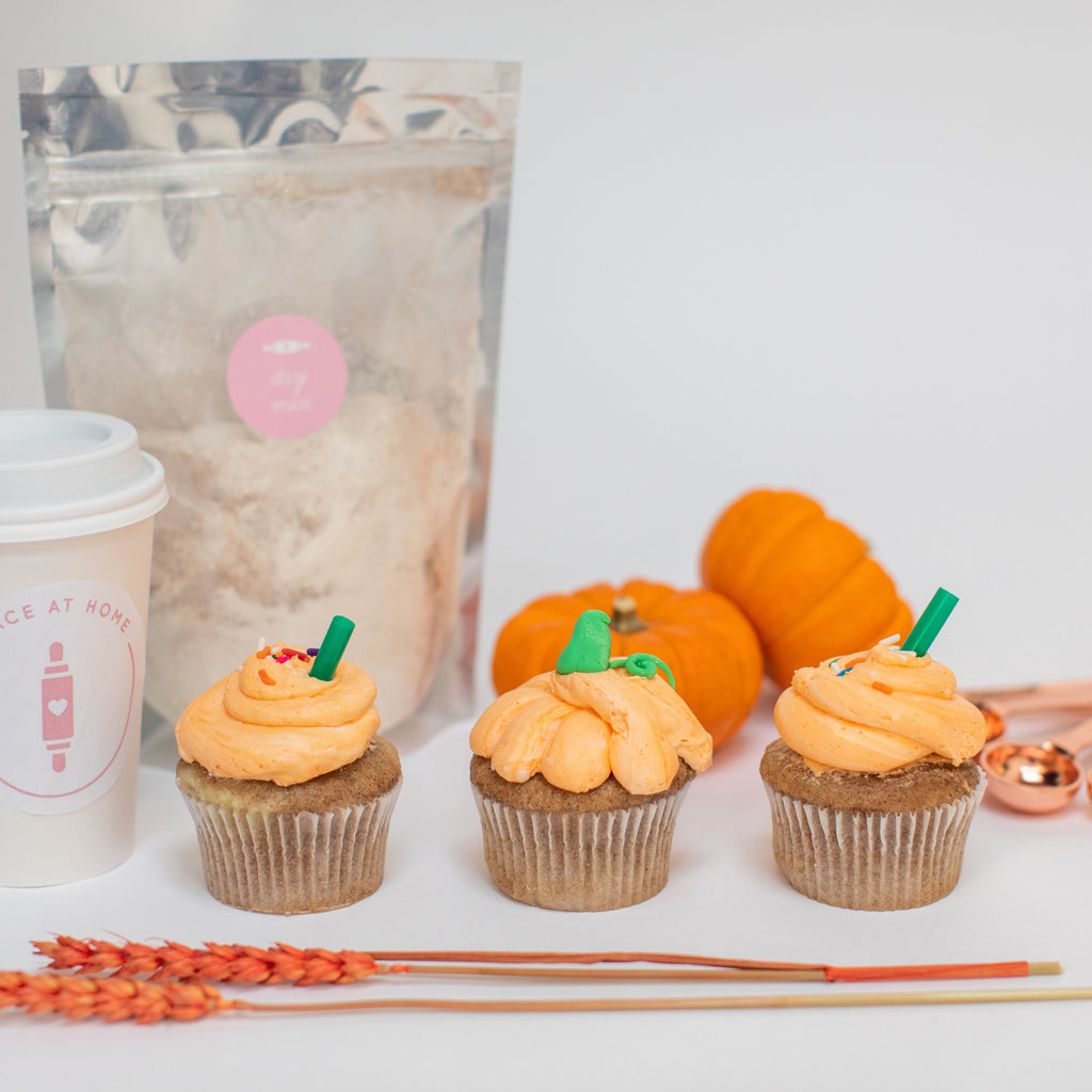 Pumpkin Spice Latte Cupcake Kit