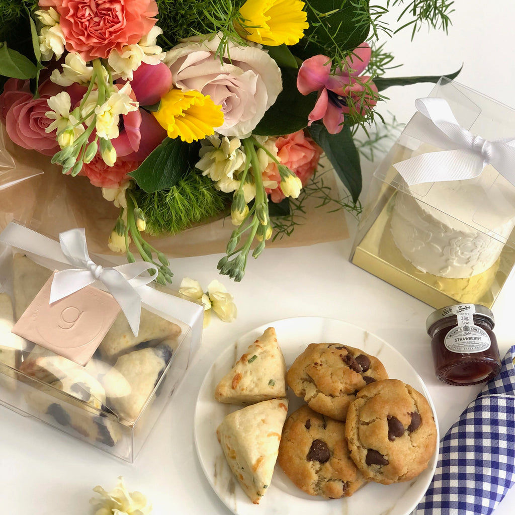 Mother's Day Dessert Box + CJDE Bouquet Bundle