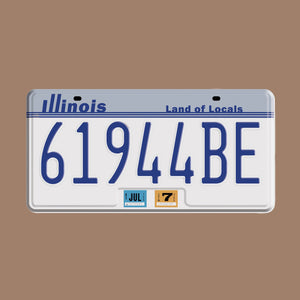 Sunday Drive License Plate + Digital Album