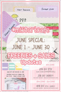 [JUNE] Freebies + Sales Updates