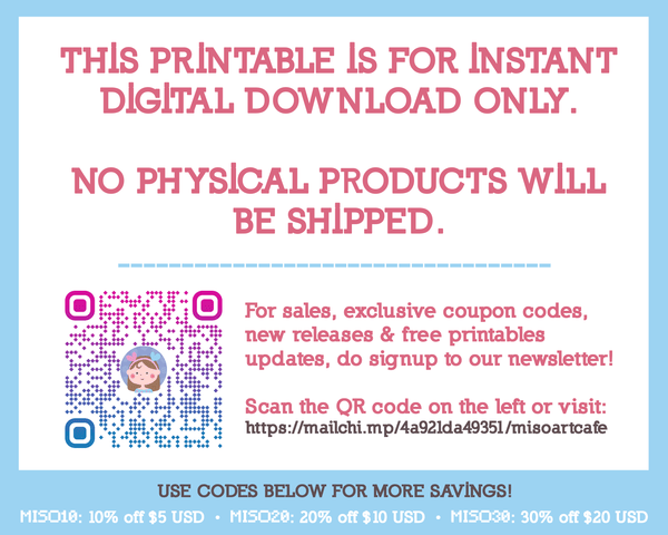 Printable x Freebie - Stay Safe (April Newsletter) - Miso Art Cafe