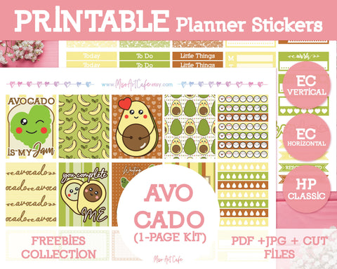 Printable x Freebie - Avocado Lite Kit (ECV / ECH / HPC) - Miso Art Cafe