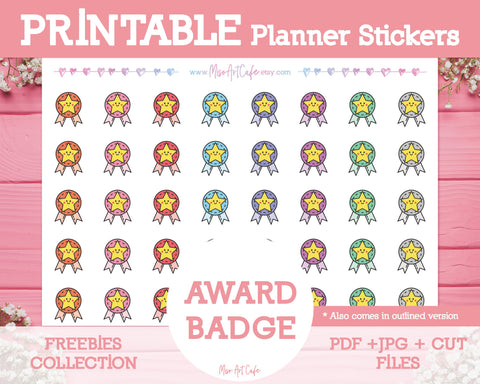 Printable x Freebie - Award Badge Icons - Miso Art Cafe