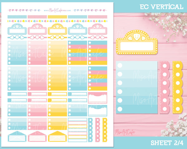 Printable Summer Vibes Weekly Kit - Erin Condren Vertical - Miso Art Cafe