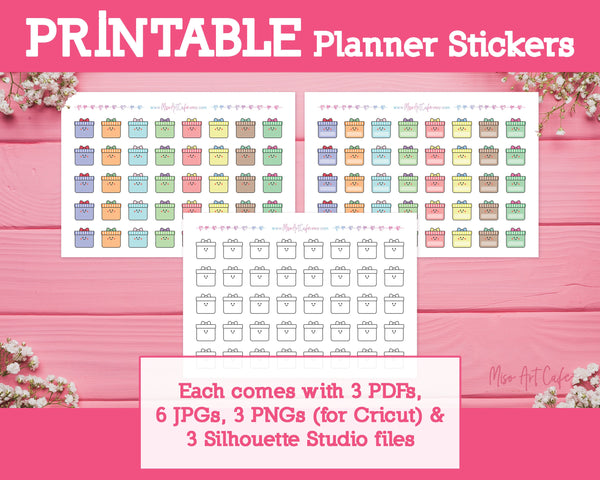 Printable Present Icons - Cute Vector Icon Planner Stickers - Miso Art Cafe Stickers for Planners