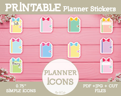 Printable Planner Icons - Simple Vector Icon Planner Stickers