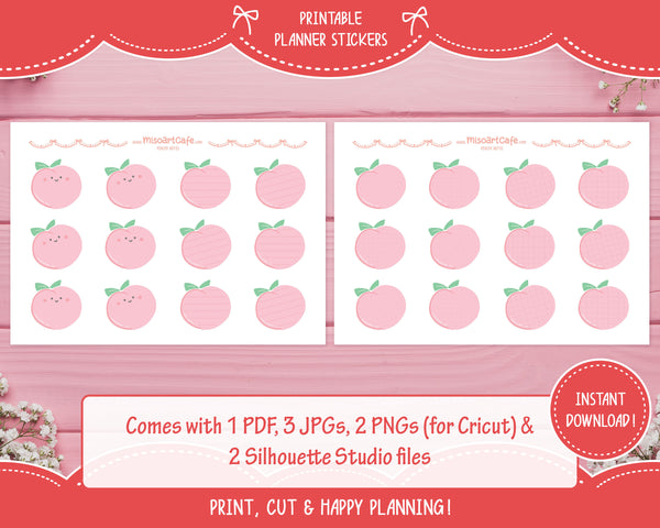 Printable Peachy Notes - Fruit Platter Planner Stickers