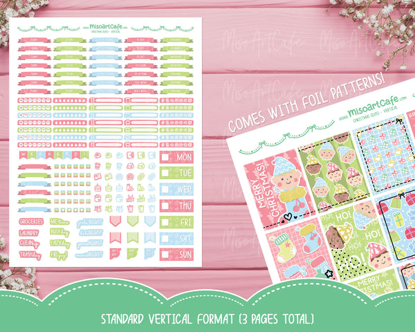 Printable Christmas Elves Weekly Kit - Standard Vertical