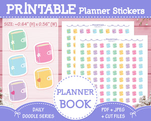 Printable Planner Book Doodles - Hand Drawn Planner Stickers