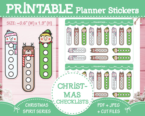 Printable Checklists - Christmas Spirit Planner Stickers