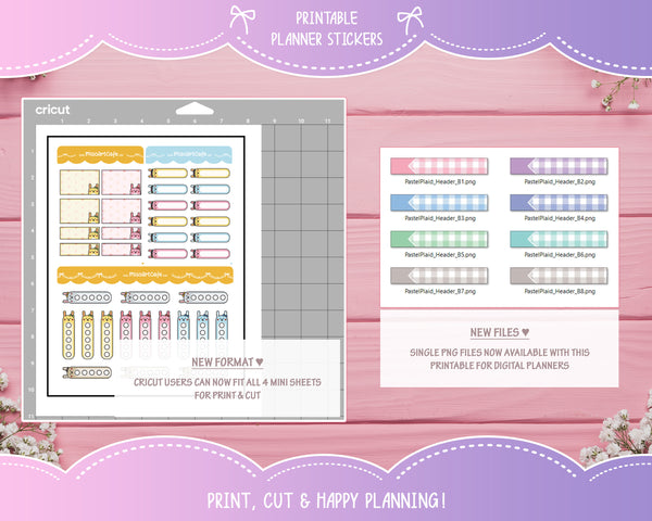 "1.9"" Pastel Foldable Planner Stickers"