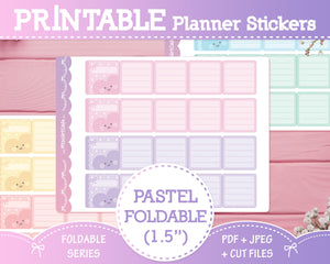 "1.5"" Pastel Foldable Planner Stickers"