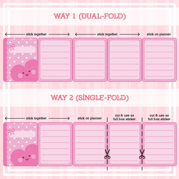 Weekly Menu Plan - Foldable Planner Stickers
