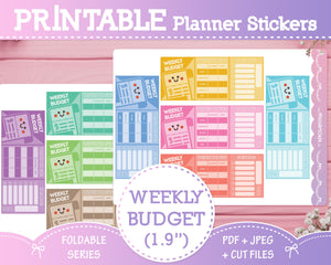 Weekly Budget - Foldable Planner Stickers
