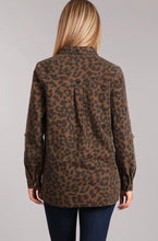 Load image into Gallery viewer, Leopard Denim Button Down