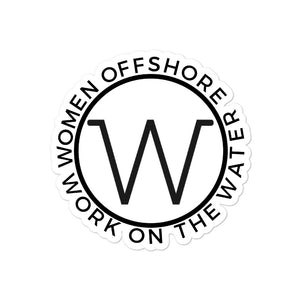 Women Offshore Round Sticker