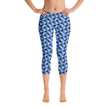 Load image into Gallery viewer, Blue Mermaid Capri Leggings, Limited Edition