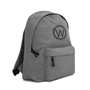 Work On The Water Embroidered Backpack
