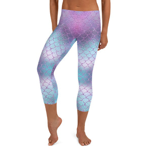 Mermaid Shimmer Capri Leggings, Limited Edition
