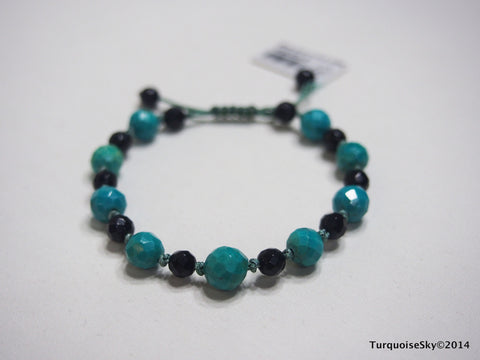 Natural pure turquoise beads bracelet
