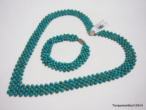 Natural turquoise necklace 19 inches