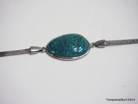 Natural turquoise bracelet 6.7 inches