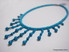 Natural turquoise necklace 14 inches