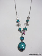 Natural turquoise necklace 20 inches
